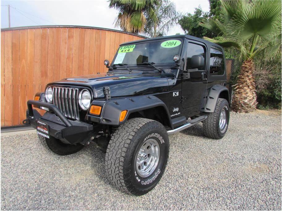 sold 2004 jeep wrangler x sport utility 2d. Black Bedroom Furniture Sets. Home Design Ideas