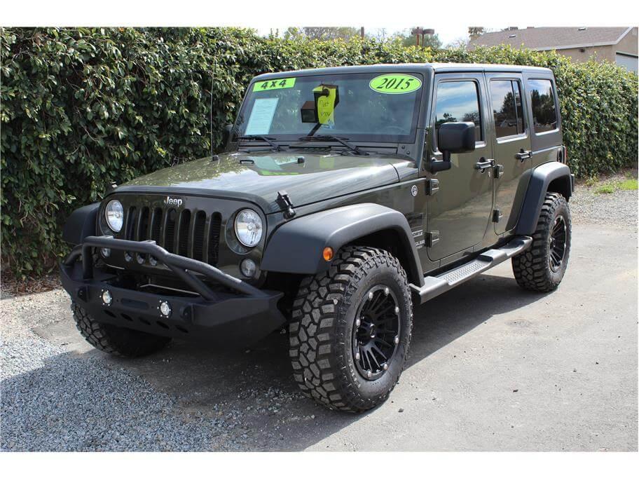 2015 Jeep Wrangler Tank Green